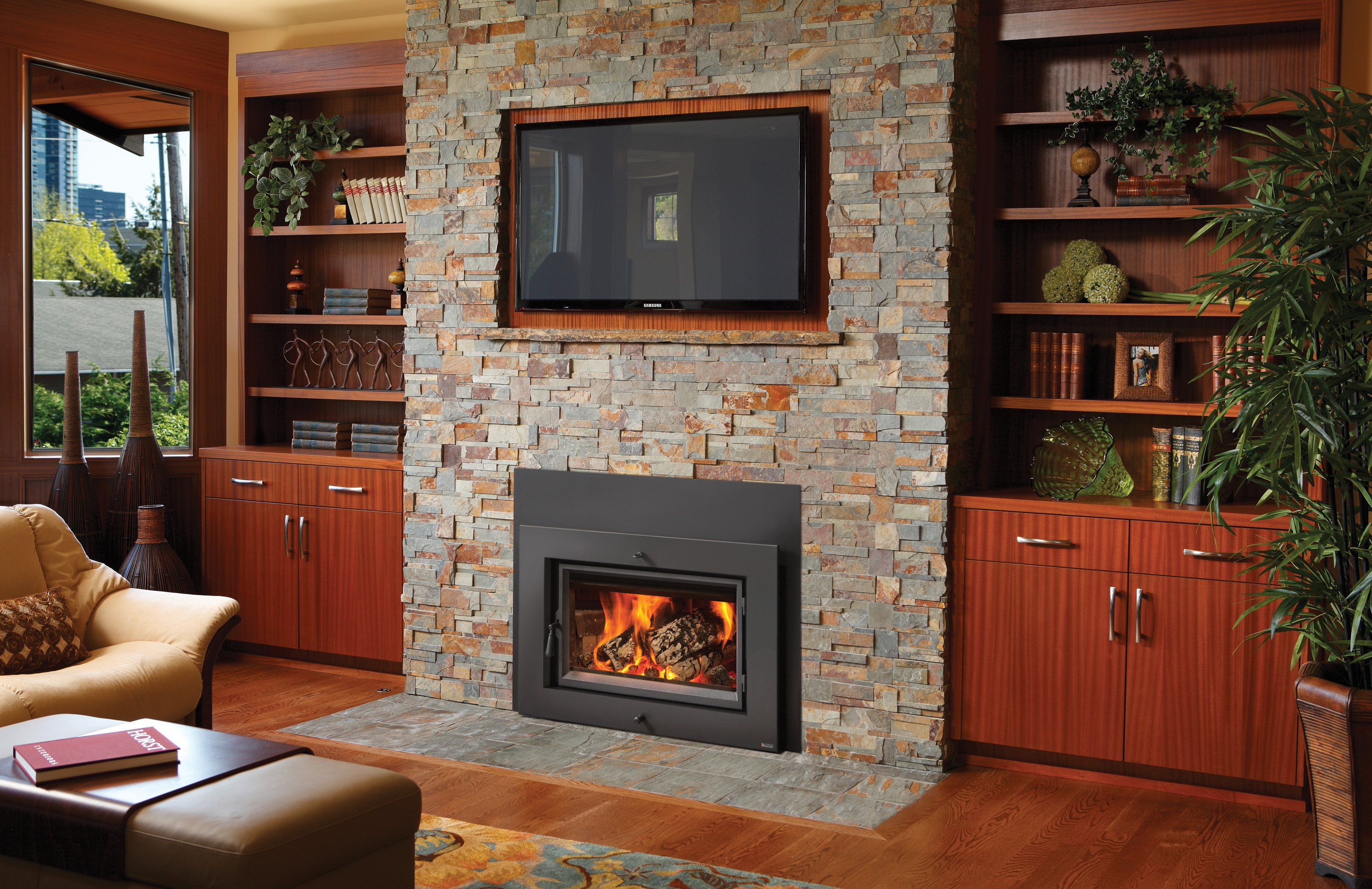 wood fireplace insert